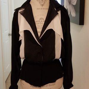 Karl Largergeld Vintage Tissue silk blouse 40